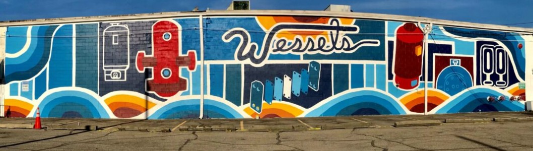 Mural Brings Fresh Life to Wessels Company headquarters